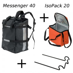 Combo Food Messenger 40 Noir
