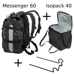 Combo Food Messenger 60 Noir