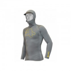 T-shirt Lycra UPF 50 long sleeves and hood