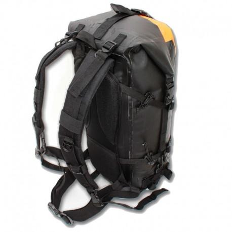 Dos et bretelles ergonomiques du sac étanche drybackpack 40 hPa