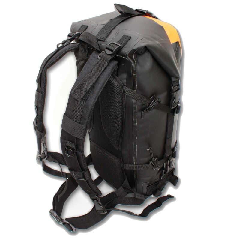e85cf913a5 Dos et bretelles ergonomiques du sac étanche drybackpack 40 hPa