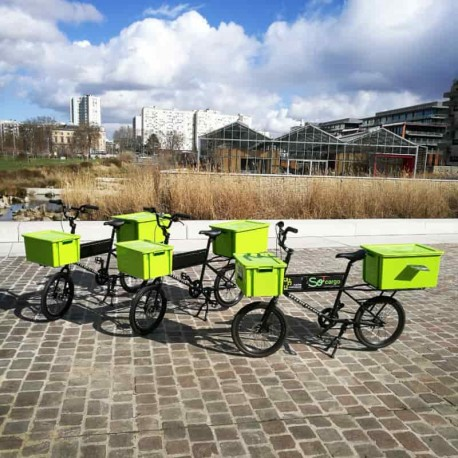 Flotte de vélos cargo à Saint Ouen