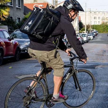 Sac à dos isotherme pour livreur à vélo Uber Eats ou Deliveroo