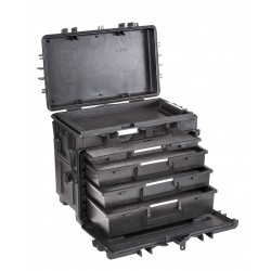 Suitcase waterproof EXPLORER CASE 5140KT01-AH with drawers and foam