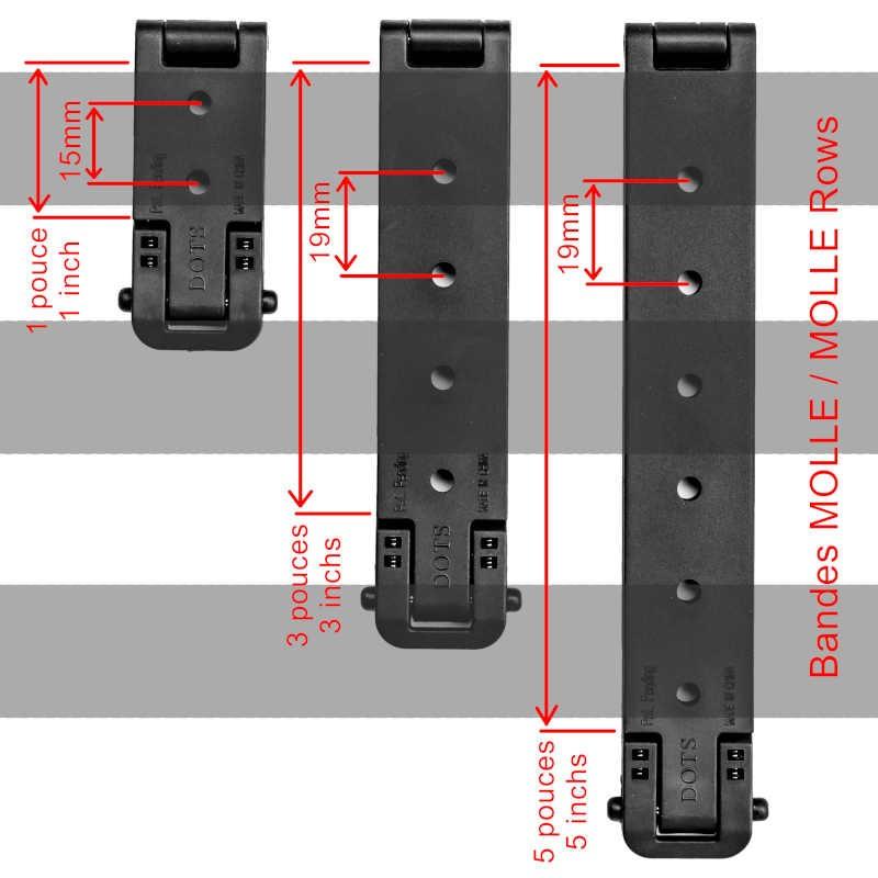 Dimensions d'un maillage MOLLE